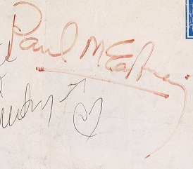 Paul McCartney autograph - The Beatles