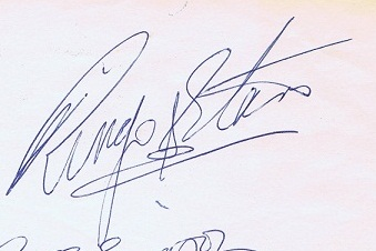 Ringo Starr Autograph - The Beatles